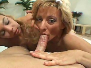 A Big tit hooker and her friend double team their co-star and share a facial...