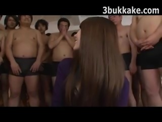 Japanese Uncensored - Gangbang Bukkake