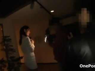 Sexy Japanese news reporter gets