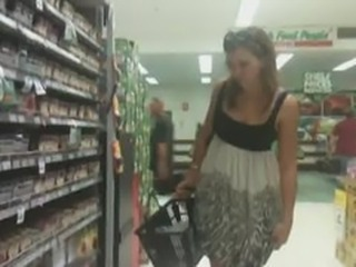 Upskirt in Spice Aisle