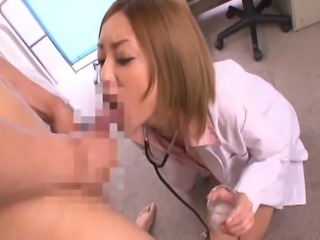 Nao is a popular babe in JAVs. She looks great as a cum-crazy nurse!