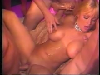 Savannah  gets gangbanged and fucked in all her holes