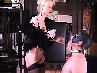 Sexy bizarre mature dominatrix extreme spitting fetish