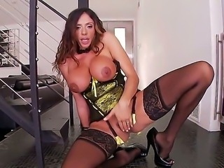 Dirty and nasty whore Ariella Ferrara revealing her huge and lovely boobs...