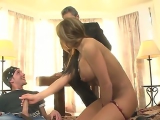 This is hot threesome fuck video with Herschal Savage, Nikki Sexx and Sonny...