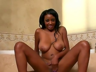 Ebony bab Chelsea was getting her bubble bath. She was dreaming of nice big...