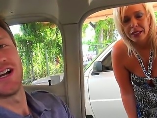 Amazing shameless blonde MILF whore was picked up and was doing wild things...