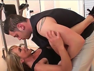 Hot cougar Shayla Laveaux is being drilled hard by the big cock of John Espizedo