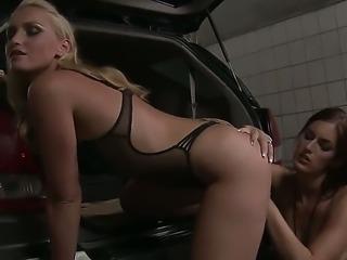 Horny wife Mira Sunset enjoys having adorable lesbian friend Kathia Nobili in...