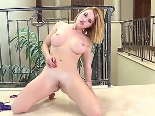 Sexy pornstar Krissy Lynn is fooling around erotically posing in the hot...