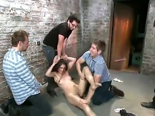 Dane Cross,Danny Wylde,Erik Everhard,Owen Gray and Zarena Summers are having...