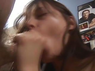 Beautiful skinny babe Ivana posing naked on camera and rubbing her tight cunt