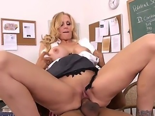 Pretty young black dude Ethan Hunt seduced for hot fuck a young blonde Julia...