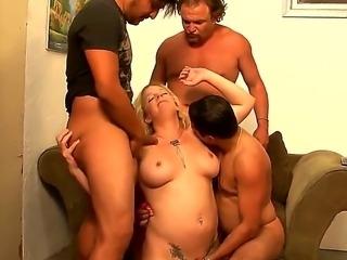 Three horny guys Cesar Agustus, Hegi and Jey Ashley came too gang bang sexy...
