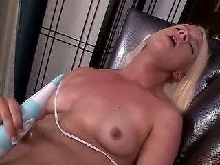 Naughty blonde bitch Kristen Jordan becomes totally bare. She is showing all...