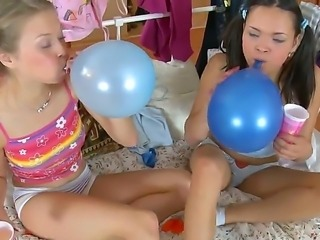 Gorgeous and sexy teen lesbians Maya and Trinity enjoy in getting ther hands...