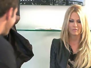 Amazing slut Jessica is a blonde