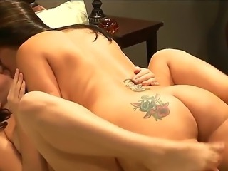 Two sympathetic brunette pornstar Natasha Nice and Raylene with a natural...