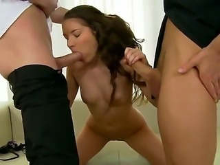 Young Anita Bellini enjoys having her tight pussy and ass drilled hard