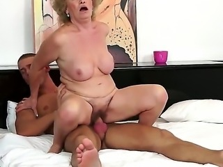 Mature woman with hairy pussy cant imagine live without being banged by...