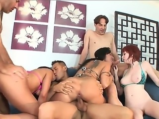 Hot babe Amber James and Eric John enjoy in passionate and steaming hot group...