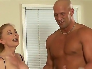Nina Hartley is so sexy and pretty milf and she seduces her young friend...