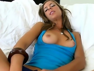 Petite horny bruentte Presley Hart gets caught fingering by pussy licking...