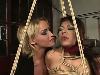 Two depraved and glamourous lesbian chicks Kathia Nobili an Yoha love playing...