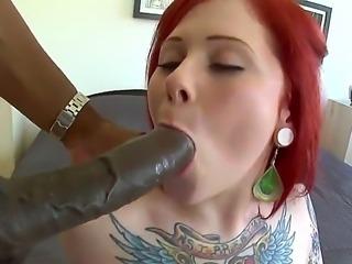 Stunning tattooed redhead beauty Misti Dawn