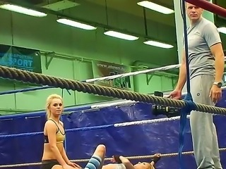 Blue Angel and Cameron Cruz take part in Nude Club Fighting where they show...