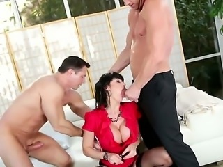 Billy Glide,Eva Karera and John Strong are having a wild threesome fuck session