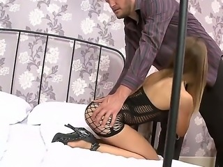 Enjoy delicious blonde whore Avril Sun doing wild things with Ian Scott and...