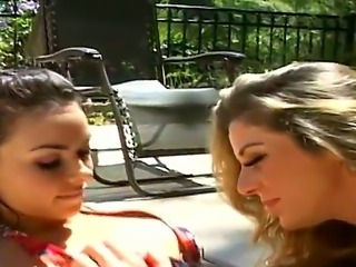 Gorgeous ladies Kayla Paige and Sophia Santi have fun in licking each other...