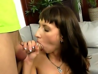 Sexy slutty babe moans in soft tones as her tight gaping cunt is penetrated...
