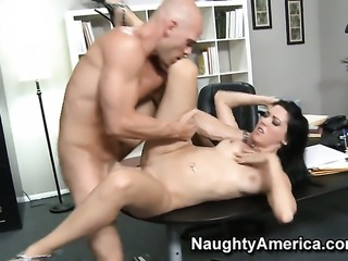 Johnny Sins gets turned on by Megan Foxx and then fucks her love box