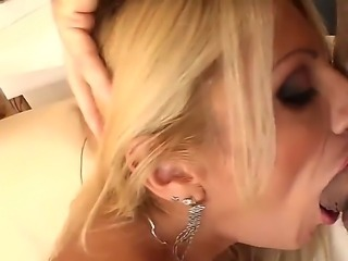 Enjoy amazing blonde slut Gia Orgy pleasuring two guys at the same time