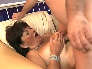 Sexy and sweet granny enjoys and moans in soft tones as her cunt is licked...