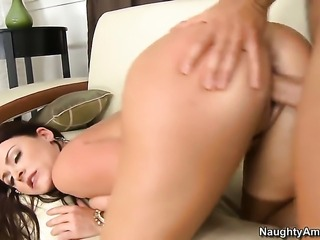 Johnny Castle gets pleasure from fucking Sophie Dee with big butt and trimmed...