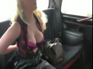 Busty natural amateur blowjob in cab free