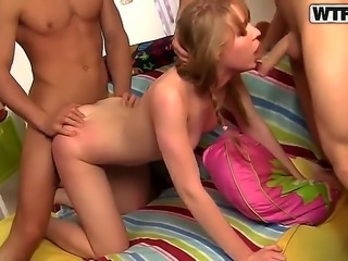 Hardcore and crazy amateur action with a nasty babe named Maya and her fuckers