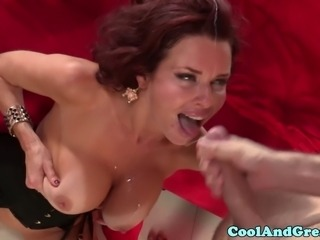 Busty skanky milf Veronica Avluv pounded roughly and rewarded with facial