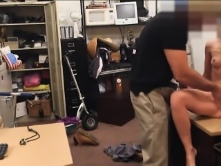 Blond slut sells her car sells her pussy at the pawnshop