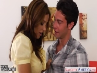 Chesty teacher Francesca Le fuck her young student free