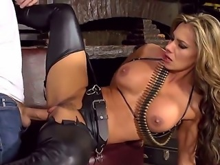 Esperanza Gomez receives a huge dick inside her tight Latina milf pussy. Shes...
