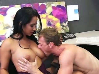 Isis Love is a hot dark haired bitch whos about to get fucked while wearing...