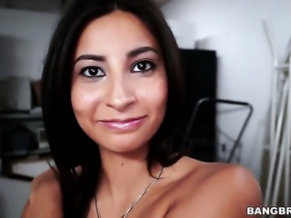 Shy amateur gets a facial