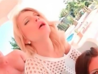 HD Cute stepsisters gets anal and blowjob