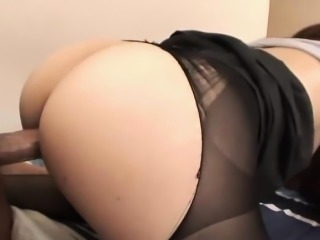 Impressive office slut in stockings Yuria Kanno is ready