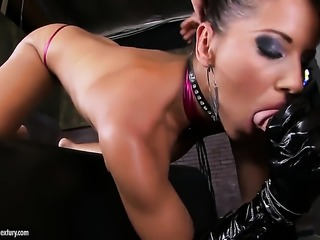 Angel Dark fucks like a first rate whore in sex action with hot guy