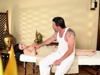 Great massage room with lovely babes